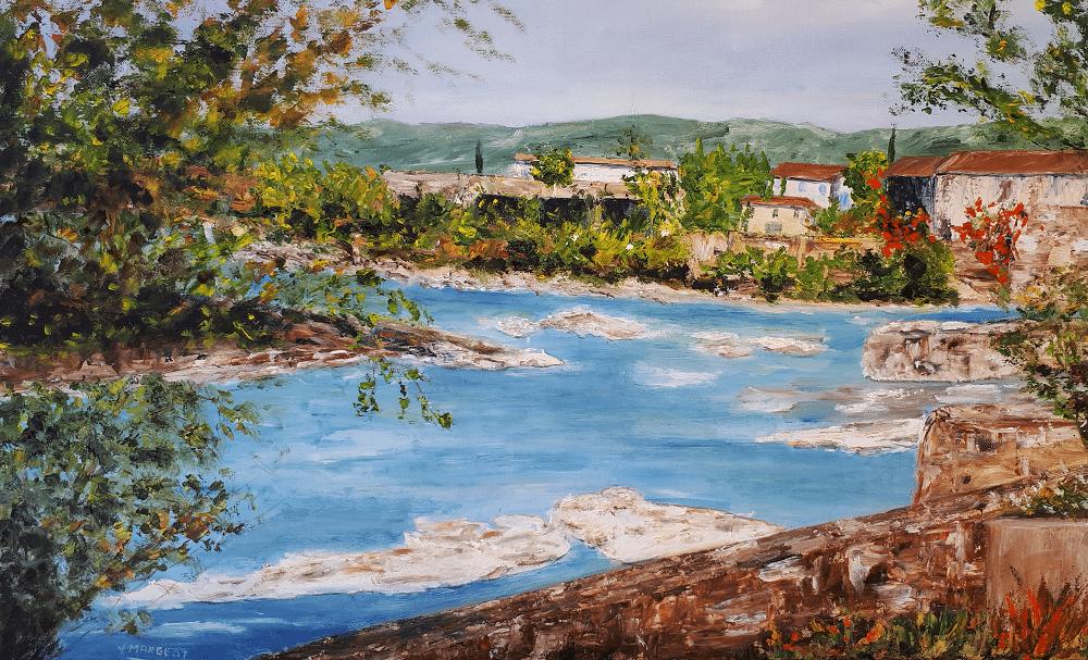 Yollande MARGEOT, artiste-peintre Cotignac : En Ardèche, près de Vallon Pont D'Arc