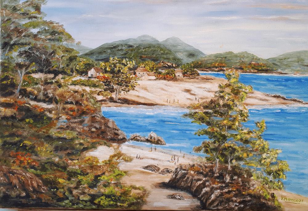 Yollande MARGEOT, artiste-peintre Cotignac : Bord de mer en Corse