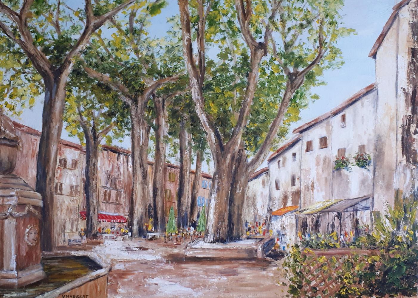 Yollande MARGEOT, artiste-peintre Cotignac : Le Cours