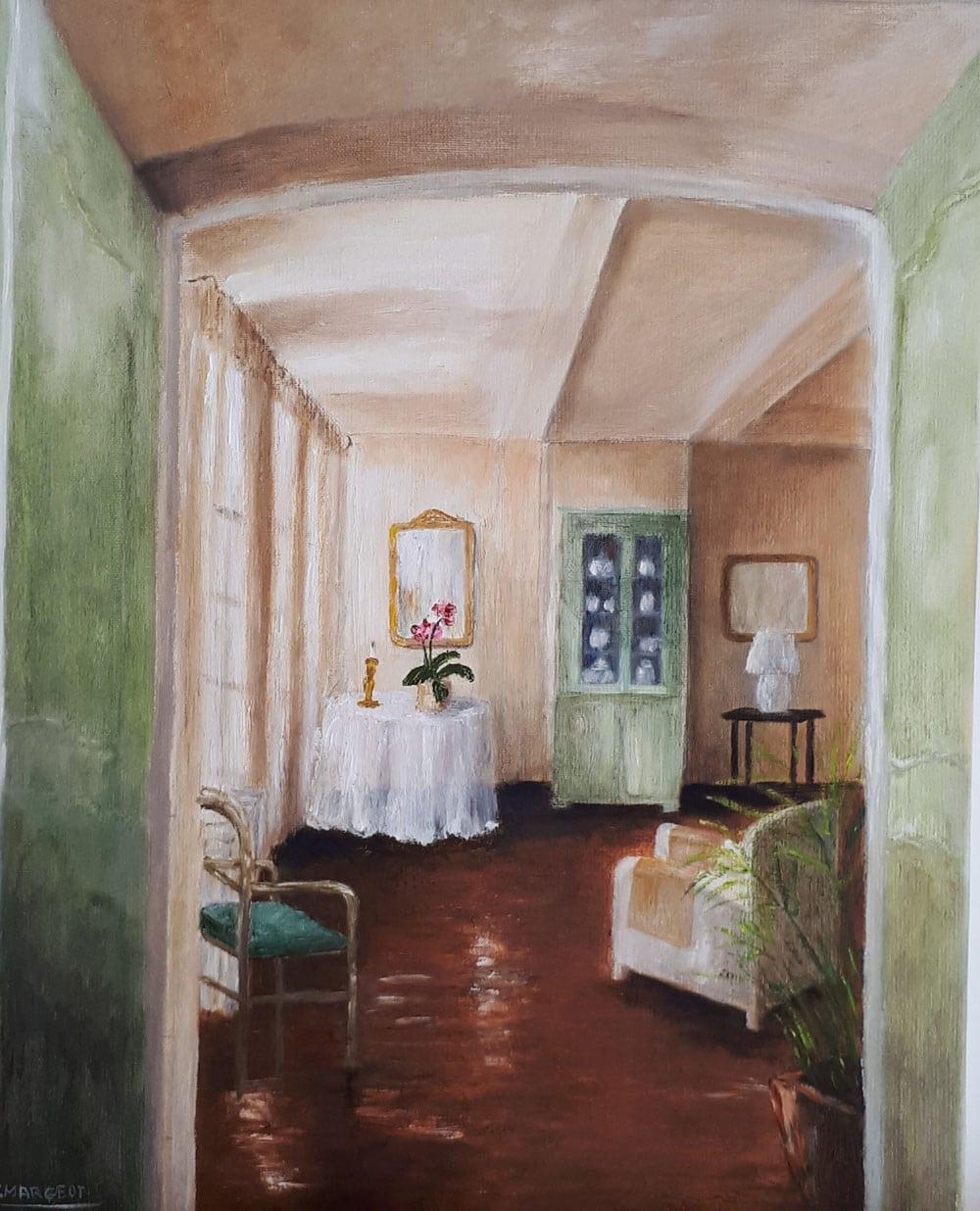 Yollande MARGEOT, artiste-peintre Cotignac : Douceur d'un Chez Soi