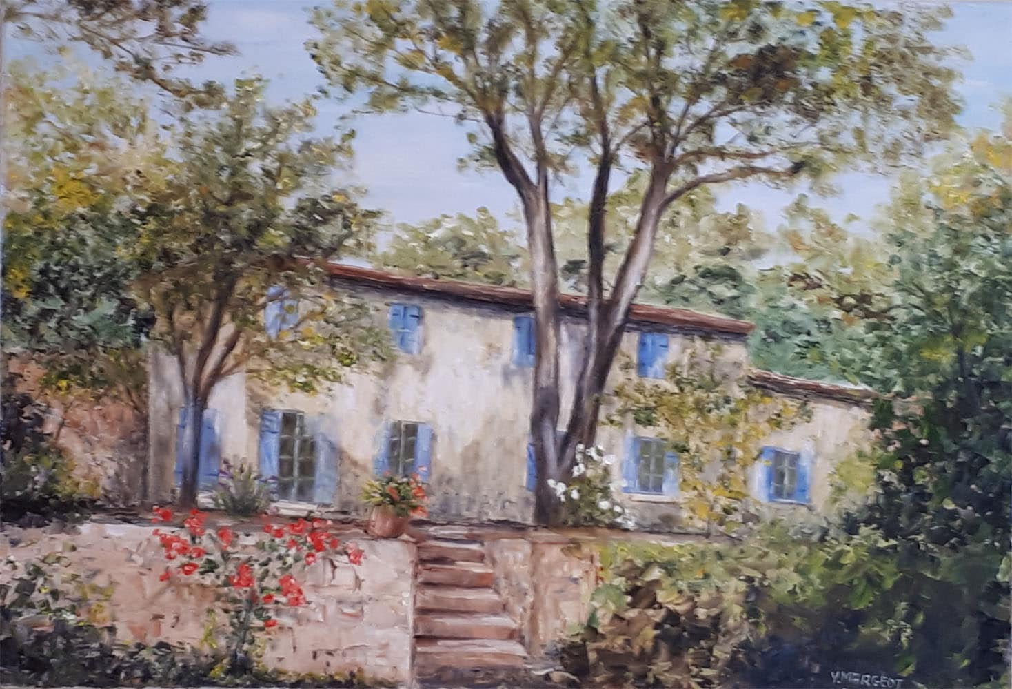 Yollande MARGEOT, artiste-peintre Cotignac : La Vieille Bastide