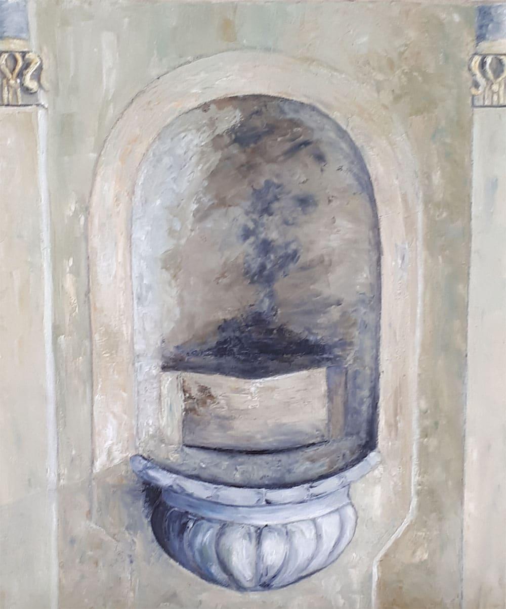 Yollande MARGEOT, artiste-peintre Cotignac : Le Vieux Bénithier