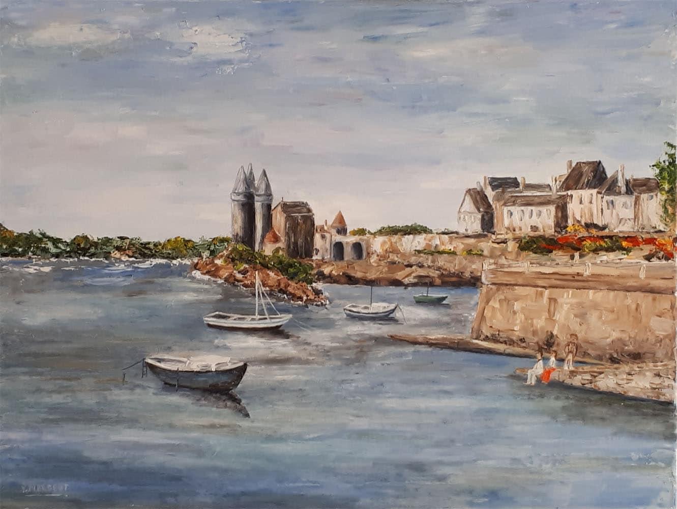 Yollande MARGEOT, artiste-peintre Cotignac : Les Tours Solidor