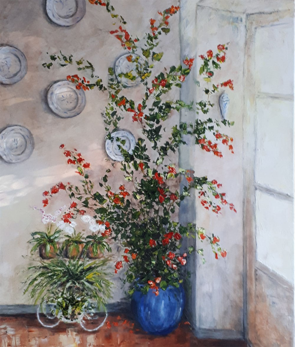 Yollande MARGEOT, artiste-peintre Cotignac : Un Bougainvillier